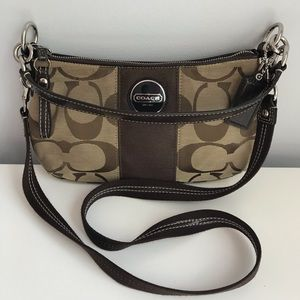 Coach Signature Shoulder Bag - Brown